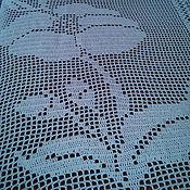 Для дома и интерьера ручной работы. Ярмарка Мастеров - ручная работа Покрывало филейное. Handmade.