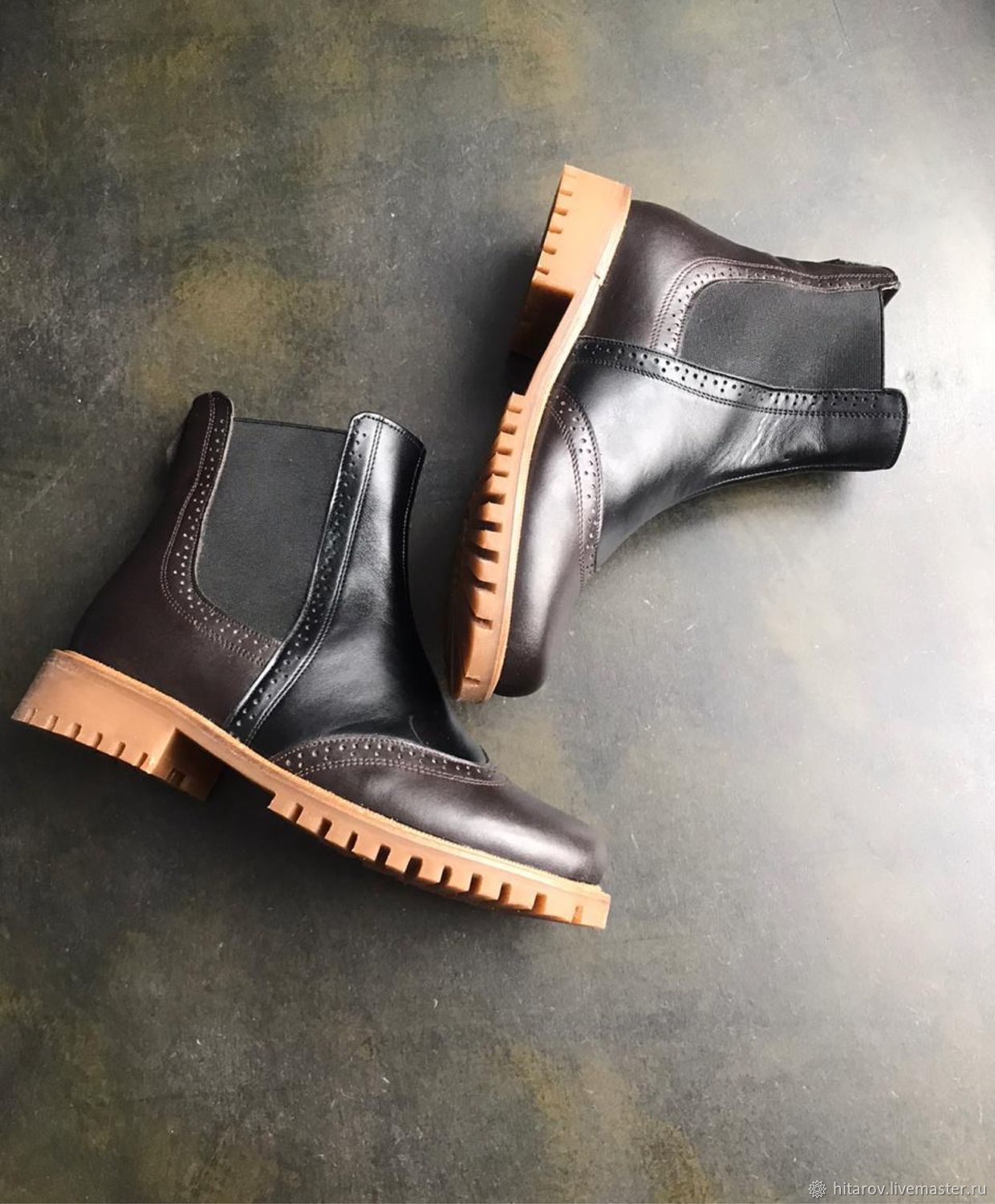 Chelsea 'chocolate/black' beige sole, Chelsea boots, Moscow,  Фото №1