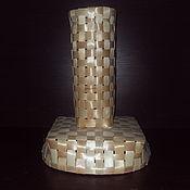 Русский стиль ручной работы. Ярмарка Мастеров - ручная работа плетеная ваза из сосны. Handmade.