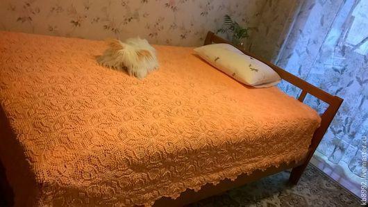 Текстиль, ковры ручной работы. Ярмарка Мастеров - ручная работа. Купить Покрывало Оранжевое настроение. Handmade. Рыжий, покрывало