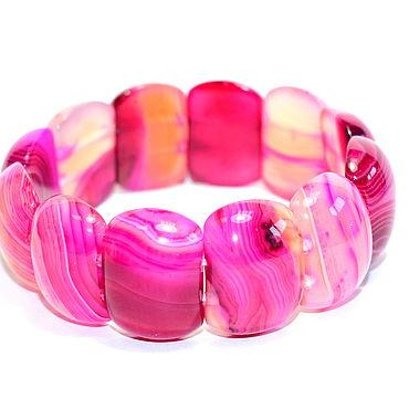 Decorations handmade. Livemaster - original item Crimson bracelet made of natural agate. Handmade.