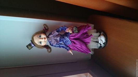 Коллекционные куклы ручной работы. Ярмарка Мастеров - ручная работа. Купить Ася.. Handmade. Фиолетовый, кукла ручной работы