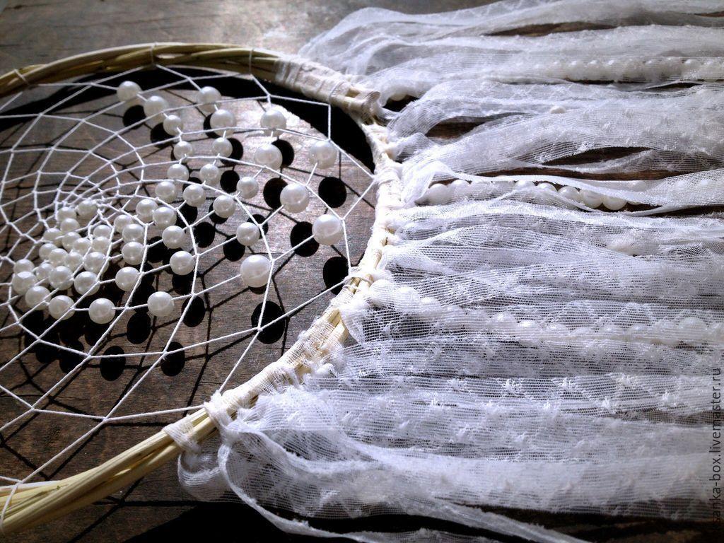 Ловец снов воздушный dreamcatcher жемчуг