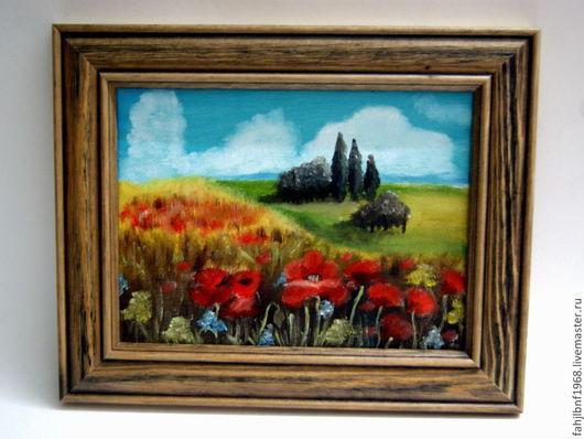 """Пейзаж ручной работы. Ярмарка Мастеров - ручная работа. Купить Картина """" Где-то в Тоскане"""". Масло. Handmade. Картина"""