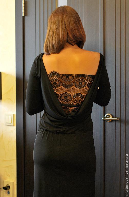 Расширить платье на спине