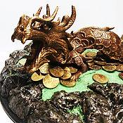 Статуэтки ручной работы. Ярмарка Мастеров - ручная работа Дракон феншуй монеты удача успех. Handmade.