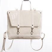 Сумки и аксессуары ручной работы. Ярмарка Мастеров - ручная работа рюкзак-портфель белый. Handmade.