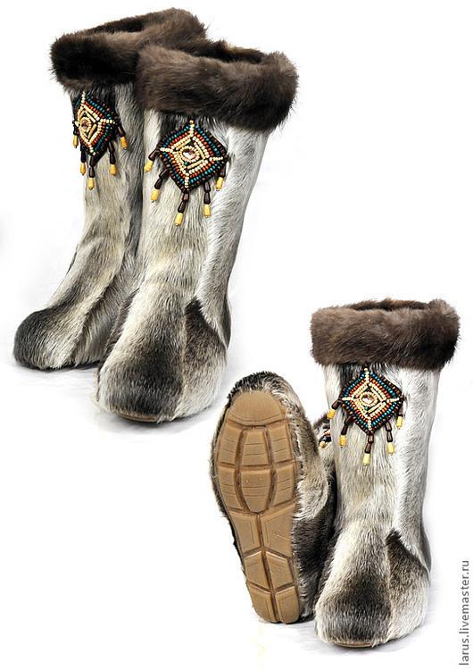 Обувь ручной работы. Ярмарка Мастеров - ручная работа. Купить Камусные унты. Handmade. Обувь ручной работы