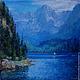 """Пейзаж ручной работы. Ярмарка Мастеров - ручная работа. Купить Картина маслом """"Озеро в горах"""". Handmade. Картина в подарок"""