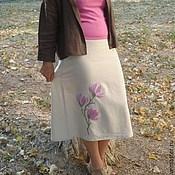 """Одежда ручной работы. Ярмарка Мастеров - ручная работа Юбка с вышивкой """"Магнолии цветут"""". Handmade."""