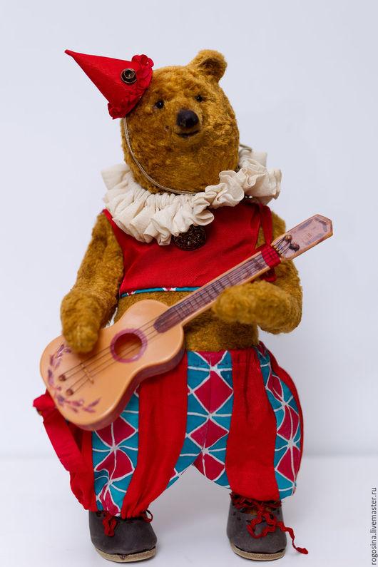 Мишки Тедди ручной работы. Ярмарка Мастеров - ручная работа. Купить Арлекин. Handmade. Оранжевый, мишка тедди, коллекционные медведи