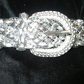Винтаж ручной работы. Ярмарка Мастеров - ручная работа Пояс ремень серебро в стиле диско. Handmade.