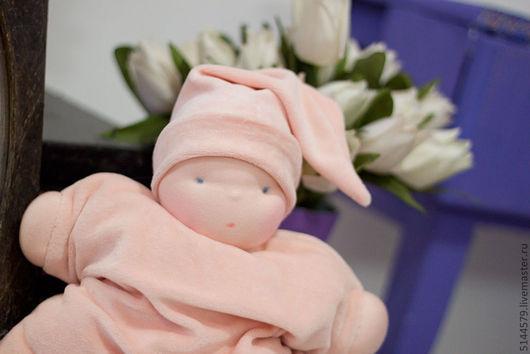 Вальдорфская игрушка ручной работы. Ярмарка Мастеров - ручная работа. Купить Подушечка Вальдорфская кукла. Handmade. Бледно-розовый, подарок