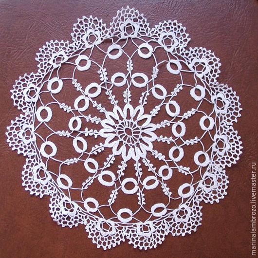 Текстиль, ковры ручной работы. Ярмарка Мастеров - ручная работа. Купить Салфетка ирландское кружево. Handmade. Белый, изящное кружево