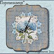 """Для дома и интерьера ручной работы. Ярмарка Мастеров - ручная работа Часы """" Гортензия"""". Handmade."""