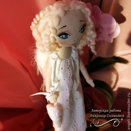 Коллекционные куклы ручной работы. Ярмарка Мастеров - ручная работа. Купить Ангел хранитель. Handmade. Белый, чистота, хлопок 100%