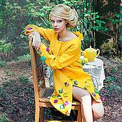 Одежда ручной работы. Ярмарка Мастеров - ручная работа Плащ желтый с подушечками. Handmade.