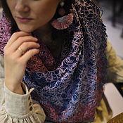 Аксессуары handmade. Livemaster - original item Women`s cotton handkerchief in boho style berry. Handmade.