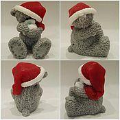 """Косметика ручной работы. Ярмарка Мастеров - ручная работа мыло""""мишка Тедди санта"""". Handmade."""