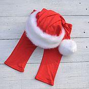 Работы для детей, handmade. Livemaster - original item Santa hat pants newborn photo shoots. Handmade.