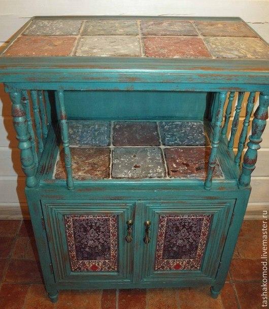 """Мебель ручной работы. Ярмарка Мастеров - ручная работа. Купить Тумба и зеркало """"Итальянские фантазии"""" (реставрация). Handmade. Мебель"""