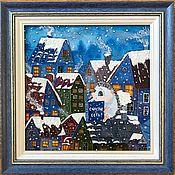Картины и панно handmade. Livemaster - original item Stained glass painting on the glass