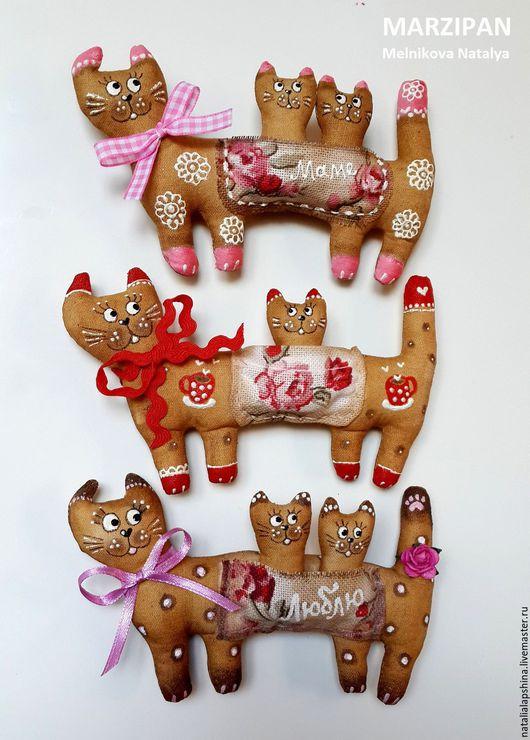 Ароматизированные куклы ручной работы. Ярмарка Мастеров - ручная работа. Купить Кошка и котята. Магнит. Подвеска. Handmade. Кот, любовь