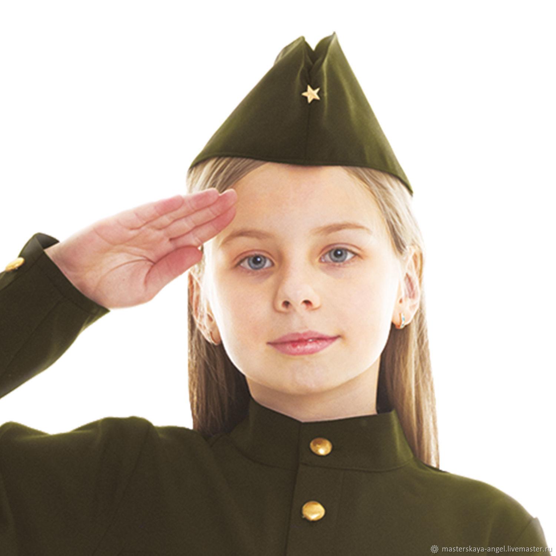 Пилотка военная детская, Карнавальные костюмы, Санкт-Петербург,  Фото №1