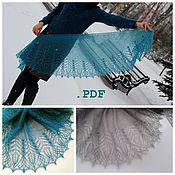 Материалы для творчества handmade. Livemaster - original item Instructions for knitting the shawl, fichu Firuza. Handmade.