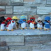 Куклы и игрушки ручной работы. Ярмарка Мастеров - ручная работа Пингвины. Вязаные игрушки из шерсти. Handmade.