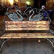 Для дома и интерьера ручной работы. Ярмарка Мастеров - ручная работа Набор кованная мебель стол и 2 лавки. Handmade.