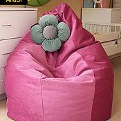Для дома и интерьера ручной работы. Ярмарка Мастеров - ручная работа Кресло с цветком, груша, биг бен, бескаркасная мебель, пуф. Handmade.