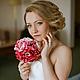 """Свадебные цветы ручной работы. Заказать Брошь-букет """"Розовые пионы"""". Pugofka. Ярмарка Мастеров. Розовый, свадебные цветы, бусины"""