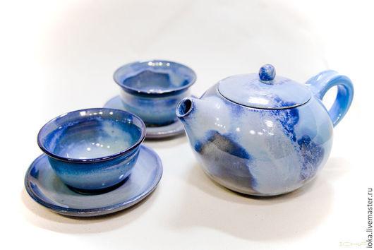 Чайники, кофейники ручной работы. Ярмарка Мастеров - ручная работа. Купить Чайник - небо. Handmade. Голубой, небесный, синий, чайник