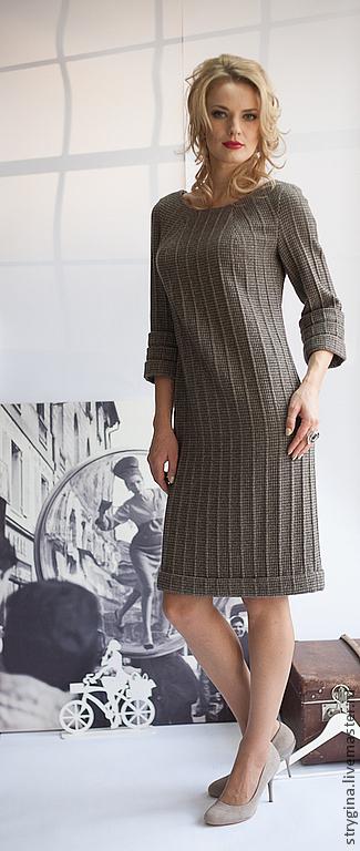 Платья ручной работы. Ярмарка Мастеров - ручная работа. Купить Платье Fonte. Handmade. Коричневый, стильное платье, французский стиль
