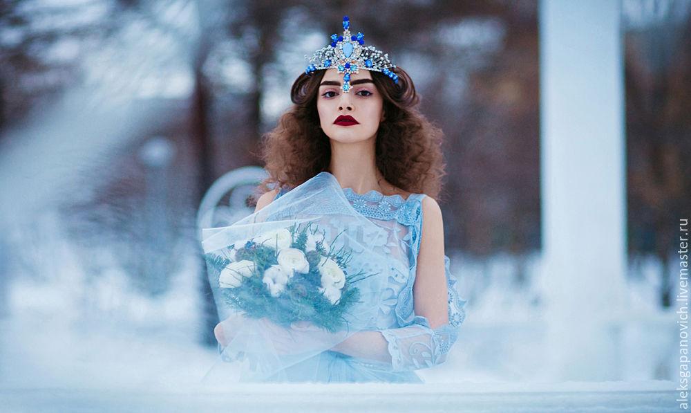 Шапка снежной королевы своими руками 185
