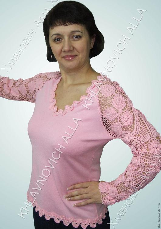 """Блузки ручной работы. Ярмарка Мастеров - ручная работа. Купить Блуза """"Аврора"""" Модель №752. Handmade. Розовый, блузка из хлопка"""