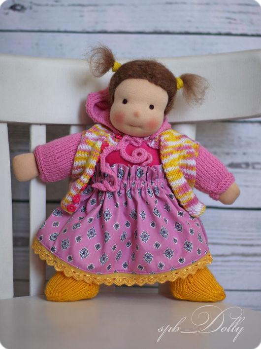 Вальдорфская игрушка ручной работы. Ярмарка Мастеров - ручная работа. Купить ЛИЛЯ - Солнечная Бусинка - текстильная кукла ручной работы с одеждой. Handmade.