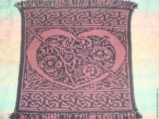 Текстиль, ковры ручной работы. Ярмарка Мастеров - ручная работа. Купить Вязаное сиденье Кельтское сердце. Handmade. Сиденье