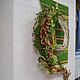 Интерьерные композиции ручной работы. Флористическое   оформление  на стену Заплетала косу полевыми цветами. Наталья Бринько (natali-brinko). Интернет-магазин Ярмарка Мастеров.