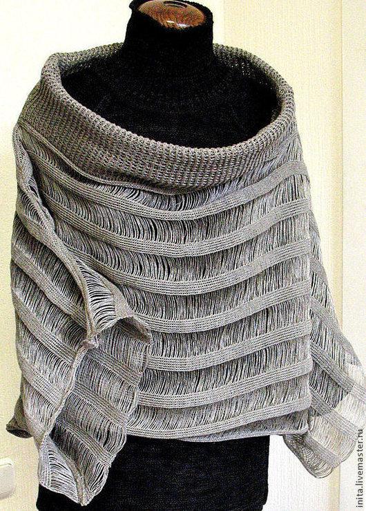 Кофты и свитера ручной работы. Ярмарка Мастеров - ручная работа. Купить Топ туника льняная Свитер Одежда натурально серая. Handmade.
