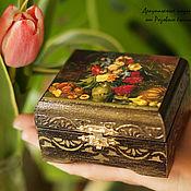 Для дома и интерьера handmade. Livemaster - original item Box for jewelry Flowers and fruits. Handmade.