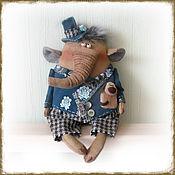 Stuffed Toys handmade. Livemaster - original item The elephant and the pug. Handmade.