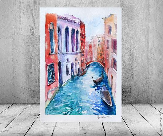 Город ручной работы. Ярмарка Мастеров - ручная работа. Купить Лазурная Венеция. Handmade. Голубой, венеция, ilyushkina, спальня