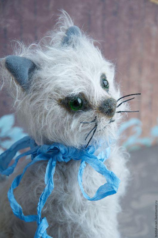 Мишки Тедди ручной работы. Ярмарка Мастеров - ручная работа. Купить Тедди кот Котейко. Handmade. Серый, гранулят