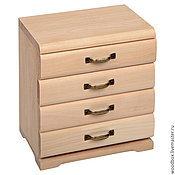 Материалы для творчества handmade. Livemaster - original item Kmd201421 chest of Drawers 4 drawers 20 14 21 for decoration decoupage painting. Handmade.