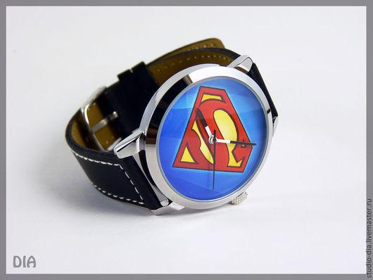 Часы. Наручные Часы. Оригинальные Дизайнерские Часы Супермена. Студия Дизайнерских Часов.