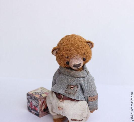 Мишки Тедди ручной работы. Ярмарка Мастеров - ручная работа. Купить Мишаня  тедди мишка 21,5см. Handmade. Коричневый