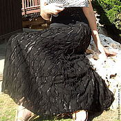 Одежда ручной работы. Ярмарка Мастеров - ручная работа Летняя длинная юбка Ажурная3. Handmade.