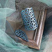 Украшения ручной работы. Ярмарка Мастеров - ручная работа Браслет кожаный Бирюзовый металлик. Handmade.